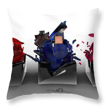 The Shattering Of Three Throw Pillow