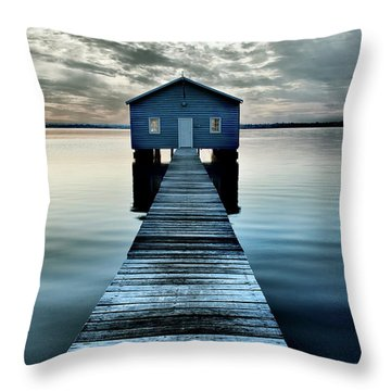 The Shed Upon The Water Throw Pillow