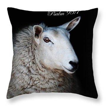 The Sheep Of His Hand Throw Pillow
