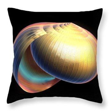 Throw Pillow featuring the digital art The Shell by Rosalie Scanlon