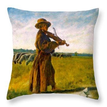 The Shepherd Throw Pillow by Henryk Gorecki