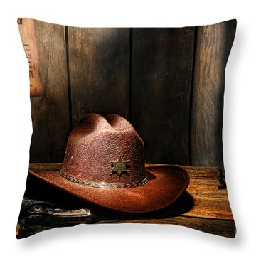 Throw Pillow featuring the photograph The Sheriff Office by Olivier Le Queinec