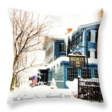 The Sherwood Inn Throw Pillow by Margie Amberge