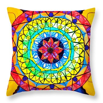 The Shift Throw Pillow by Teal Eye  Print Store