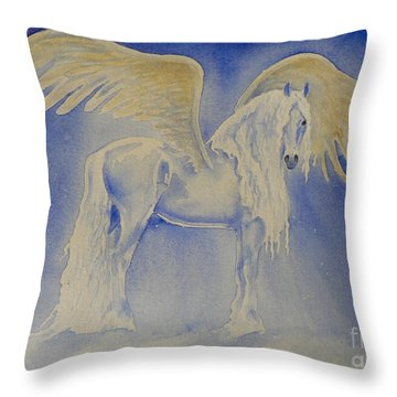 The Shining Throw Pillow by Louise Green
