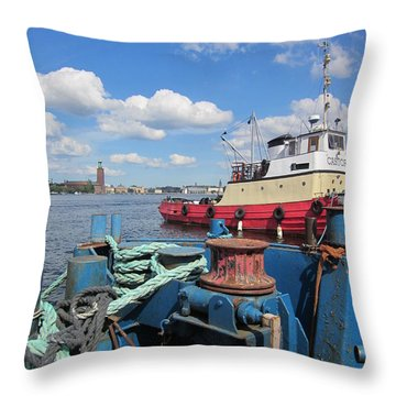 The Shipyard Throw Pillow