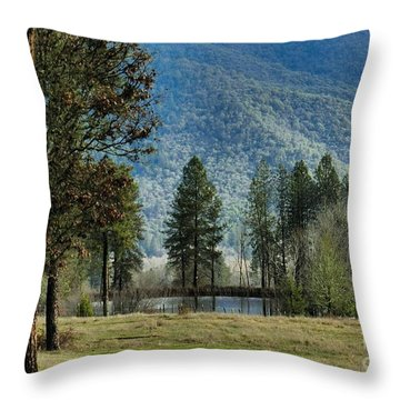 Throw Pillow featuring the photograph The Shire by Julia Hassett