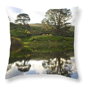 The Shire Middle Earth Throw Pillow