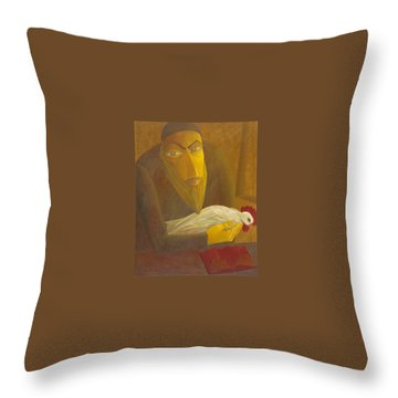 The Shochet With Rooster Throw Pillow