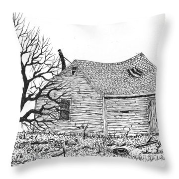 The Shop #150203 Throw Pillow