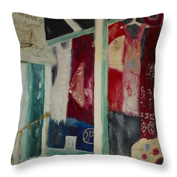 The Shop In New Paltz Throw Pillow by Aleezah Selinger