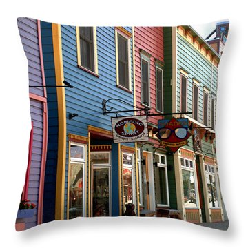 Throw Pillow featuring the photograph The Shops In Crested Butte by RC DeWinter