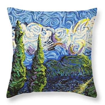 The Shores Of Dreams Throw Pillow