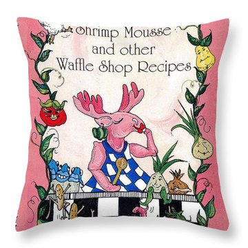 The Shrimp Moose And Other Waffle Shop Recipes Cookbook Calvary Church Memphis Tn Throw Pillow
