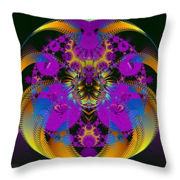 The Shrooms Are Working Throw Pillow