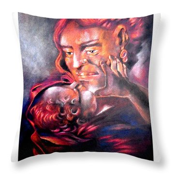 The Sick Child Throw Pillow