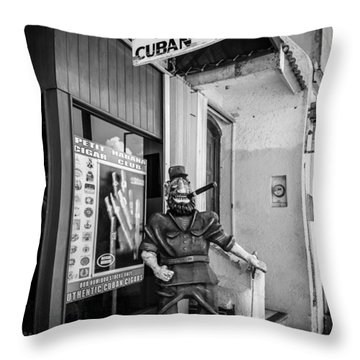 The Sidewalk Humidor  Throw Pillow by Melinda Ledsome