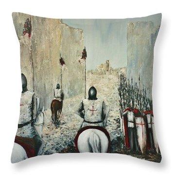The Siege Of Ascalon Throw Pillow