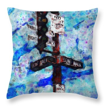 The Signal Throw Pillow by Jack Zulli