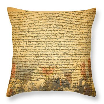 The Signing Of The United States Declaration Of Independence Throw Pillow