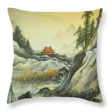 The Silence In The Mountains Throw Pillow by Sorin Apostolescu