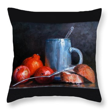 The Silver Cup Throw Pillow
