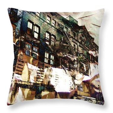 The Silver Factory / 231 East 47th Street Throw Pillow by Elizabeth McTaggart