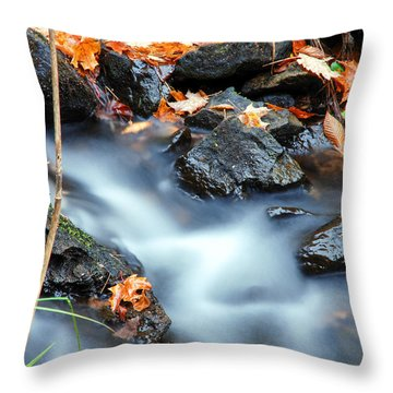 The Silvery Blue Green Velvet Effect Throw Pillow by Optical Playground By MP Ray