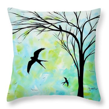 The Simple Life By Madart Throw Pillow by Megan Duncanson