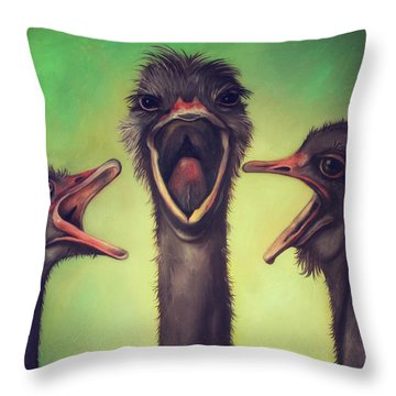 The Singers Throw Pillow by Leah Saulnier The Painting Maniac