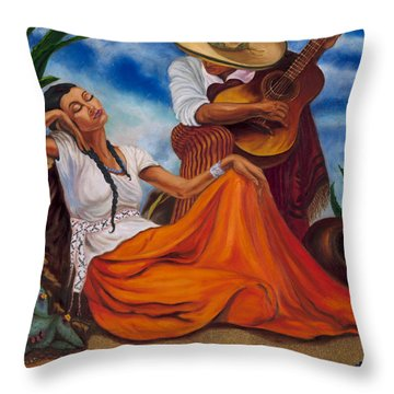 The Singers Throw Pillow by Maria Gibbs