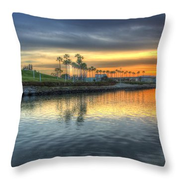 The Sinking Sun Throw Pillow