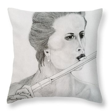 Throw Pillow featuring the painting The Siren by Rand Swift