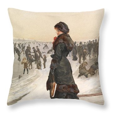 The Skater Throw Pillow