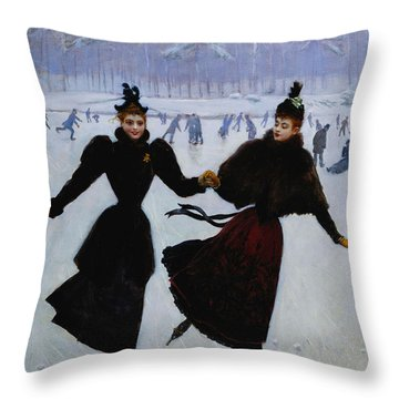 The Skaters Throw Pillow