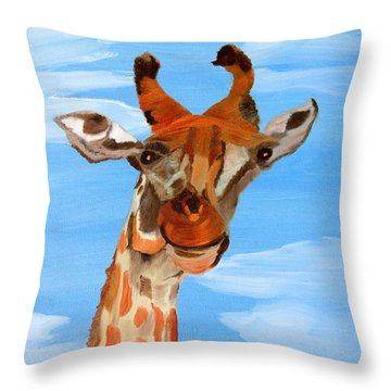 The Sky's The Limit Throw Pillow by Meryl Goudey