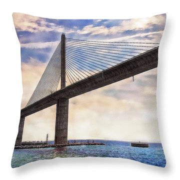 The Skyway Throw Pillow by Hanny Heim
