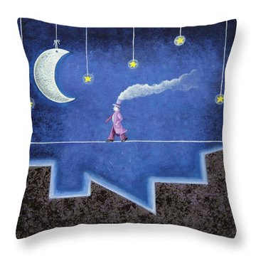 The Sleepwalker I Throw Pillow