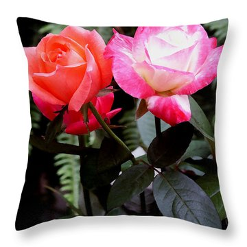 Throw Pillow featuring the photograph The Smell Of Roses by James C Thomas