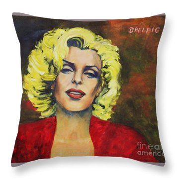 The Smile       Throw Pillow by Dagmar Helbig