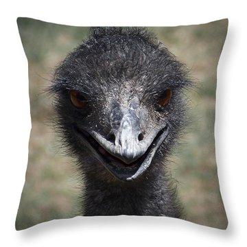 The Smile Throw Pillow