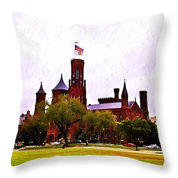The Smithsonian Throw Pillow by Bill Cannon