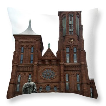 The Smithsonian - Washington Dc Throw Pillow by Christiane Schulze Art And Photography