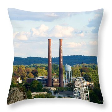 The Smoke Stacks Stand Resolute  Throw Pillow