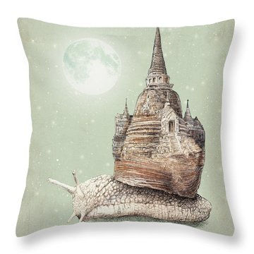 The Snail's Dream Throw Pillow by Eric Fan