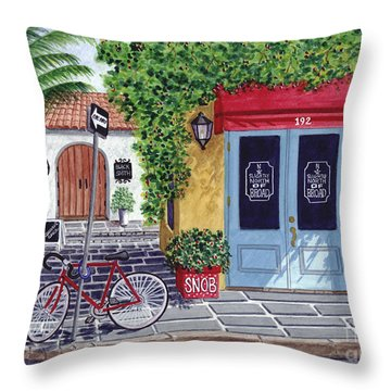 The Snob Restaurant Throw Pillow