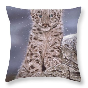 The Snow Prince Throw Pillow