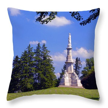 The Soldiers Monument Throw Pillow