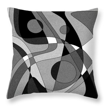 The Soloist - Black And White Throw Pillow