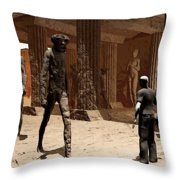 The Somnambulist In The Underworld Throw Pillow